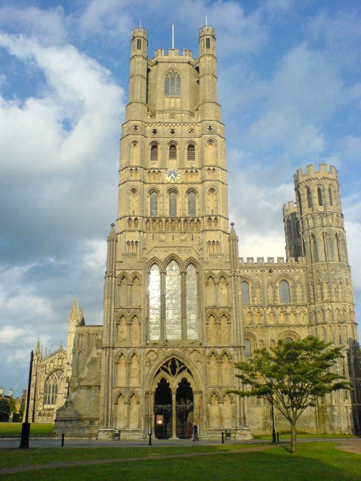 Ely Cathedral, England, dates to 1983; its octagonal tower (right, nave crossing) is an architectural wonder that helps draw 250,000 visitors a year. (Wikipedia)