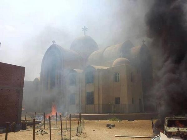 St. Mary's, Fayoum, Egypt was looted and burned in 2013.