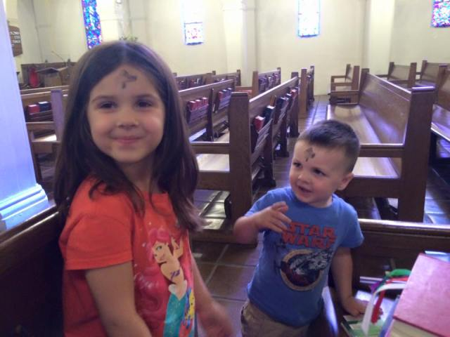 Ila and Jack after church yesterday at St. Luke's, Monrovia, California. (Facebook)