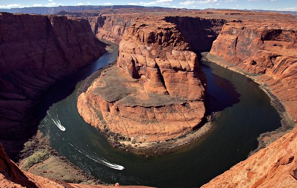 For joy in God's creation: Colorado River at Horseshoe Bend, Arizona. The river, 1450 miles long, flows through seven U.S. states and two in Mexico. (Matt York/Associated Press)