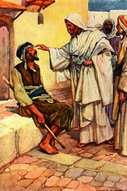 Jesus healed so many people at Gennesaret that St. Mark doesn't try to list their ailments. (source unknown)