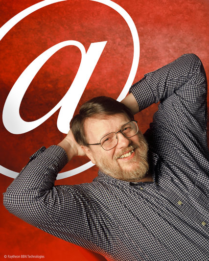 """Raymond Tomlinson has died, the inventor of individualized email in 1971, back when the internet was a closely-held Pentagon project. Before email, a message could be sent from one computer to another, but the machines themselves were big bulky things people used on a time-share basis; you could send a message from Washington to Boston, or from one mainframe to the one standing next to it, but not from Jill to Bob. He modified the existing """"sndmsg"""" protocol so that an individual message could arrive from Jill@Boston to Bob@Washington. Today 4.3 billion users worldwide send 2 billion messages per day; Ray Tomlinson was elected to the Internet Hall of Fame in 2012. (Raytheon BBN Technologies)"""