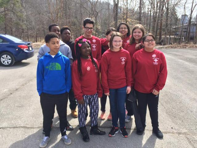 Youth group from St. John's, Speedway, Indiana, gathered last weekend at Waycross, the diocesan camp and conference center. Some of our members know that parking lot! (Sean Sullivan)