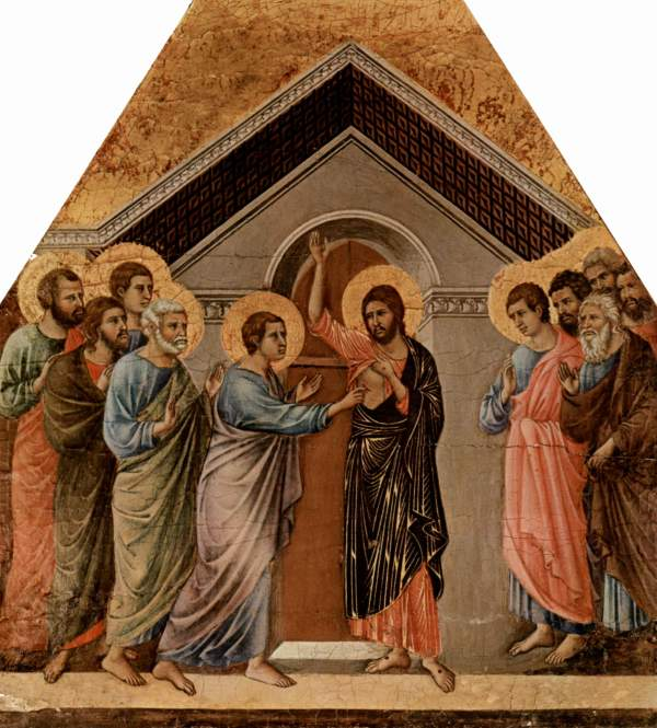 Duccio di Buoninsegna, 1311: Christ Appearing to St. Thomas