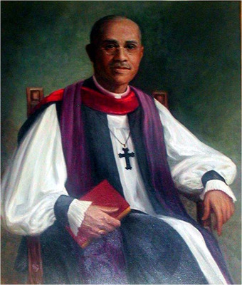 Bishop Henry B. Delany, born into slavery and emancipated as a child, was long associated with the Church-run St. Augustine's College in Raleigh, North Carolina, first as a student and later as a teacher and chaplain. He became a priest in 1892 and Suffragan Bishop for Negro Work in 1918, serving all five dioceses in North and South Carolina and establishing numerous African-American churches. He and his wife Nannie, who also taught at St. Augustine's, were the parents of children who distinguished themselves in civil rights, literature and the law. (Diocese of North Carolina)