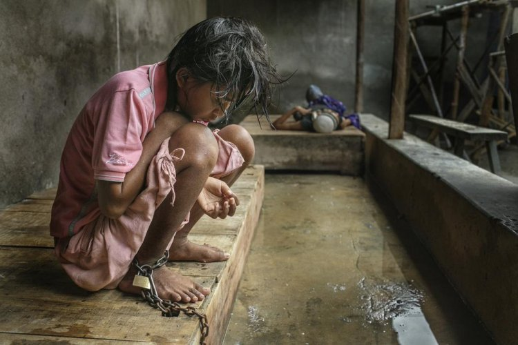 Human Rights Watch has documented that eople with mental illness in Indonesia are often kept chained up like dogs, sometimes in a bare concrete room added onto the family home. HRW is now conducting a campaign to get them better care called #BreakTheChains. Indonesia has high rates of literacy and education, as well as the world's ninth largest economy, so this is utterly shameful. No one in Indonesia's ever heard of medication? Simple humanity demands that these people be freed. (Human Rights Watch)