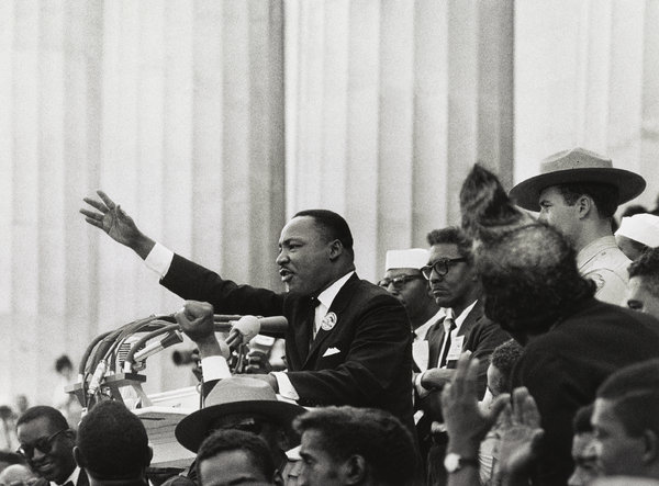 "Martin Luther King, Jr., ""I have a dream,"" 1963, by Bob Adelman. (Library of Congress)"