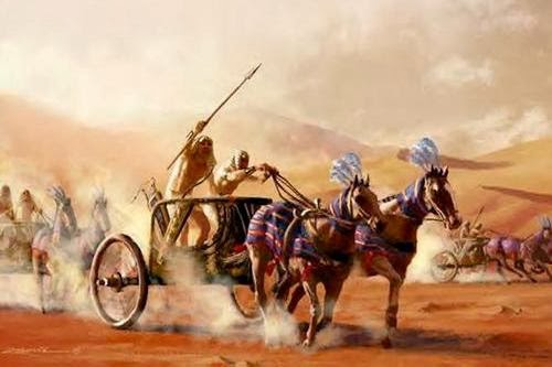 Pharoah Pursues the Israelites (luciasblog.com)