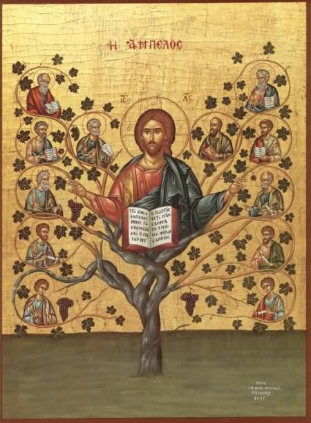 A Russian icon of the True Vine. (Anonymous, Wikipedia)
