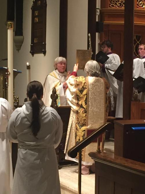 Our Right Reverend Mother in God Catherine M. Waynick, Bishop of Indianapolis, held her final Confirmation service on Ascension Day at Christ Church Cathedral. The diocese expects to elect a coadjutor in a few months. (diocesan photo)