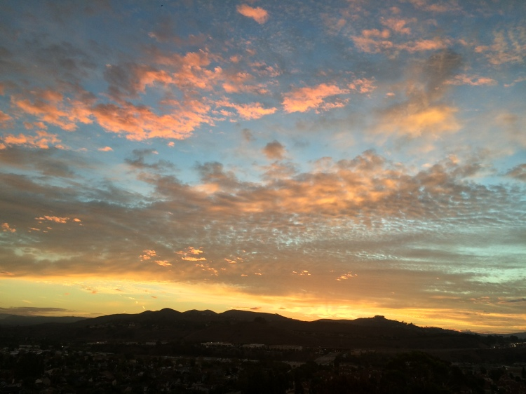 Dawn, Monday morning, Dana Point, California. (Katrina Soto)