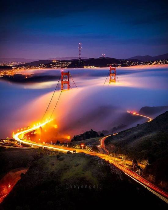 For the beauty of the Earth: the Golden Gate, a strait connecting San Francisco Bay and the Pacific Ocean, California. (Hey Engel via ABC7 News)