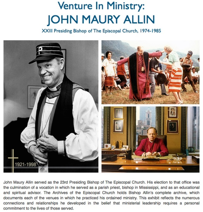 See the online exhibit here: Episcopal Church Archives, Austin, Texas.