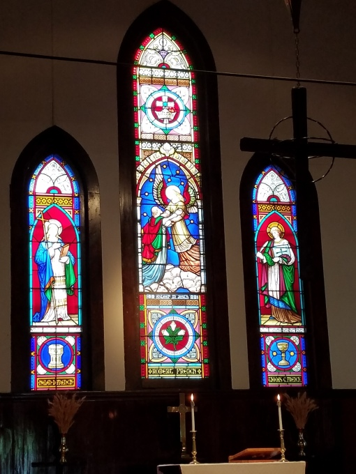 Altar and windows at Ascension Camp and Conference Center in the Diocese of Eastern Oregon. (Beth Spell)