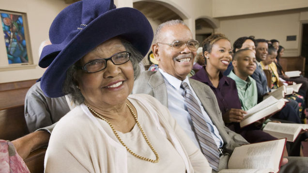 "In this era of ""come to church as you are,"" African-Americans still dress up at times, because church is one place where they are respected and hold important responsibilities. Besides, some ladies look good in hats! (round-two.me)"