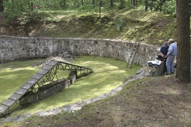 "Scientists have located a 115-foot tunnel dug by Jewish prisoners at a concentration camp in Ponary, Lithuania in 1944, using spoons or their bare hands to escape the Nazis, who were frantically trying to cover up the evidence of their genocide as Russian troops advanced from the east. Ponary was a giant burial ground for thousands who had been shot and dumped into pits in the first phase of the genocide, before the Germans settled on gassing people for ""efficiency's"" sake. The prisoners who dug the tunnel had to dig up the bodies and burn them, knowing they'd be killed themselves as soon as they were done. Various reports say 11-40 prisoners escaped, of whom 10 survived; after the war they told their stories, but the location of the tunnel had never been pinpointed until a study team used geological equipment and sonar. The Nazi coverup has been going on since 1944; finally the story of Jewish hope and survival has been proved. (Ezra Wilfinger/Israel Antiquities Authority)"
