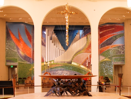 Altar at St. Barnabas on the Desert, Scottsdale, Arizona. (parish website)