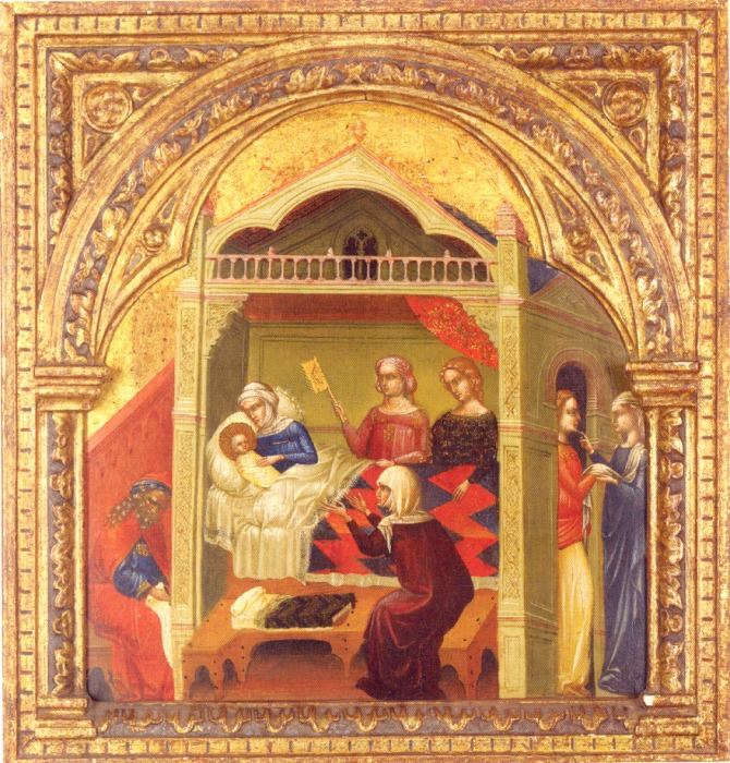Lorenzo Veneziano: Nativity of John the Baptist, c. 1350