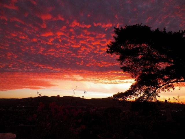 Sunrise over Orange County, California. (Katrina Soto)