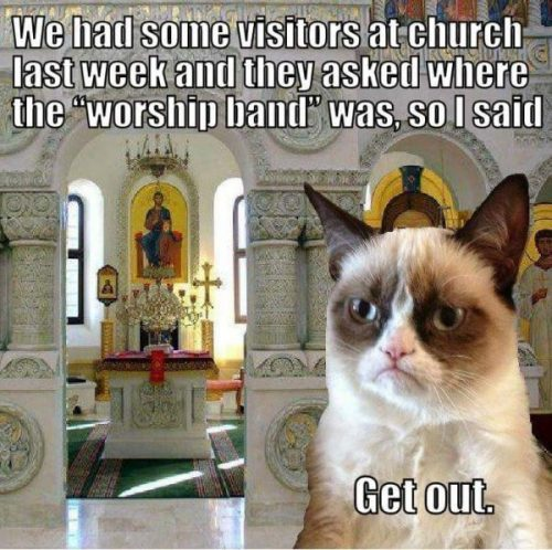 The exact opposite of this morning's meme; Grumpy Cat is an Episcopalian?