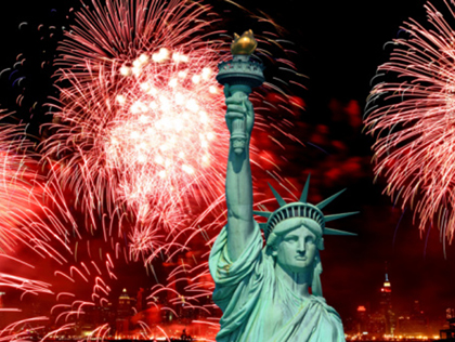 The Statue of Liberty in New York harbor. Today is a major feast in The Episcopal Church and many churches will be open. (CBS News)