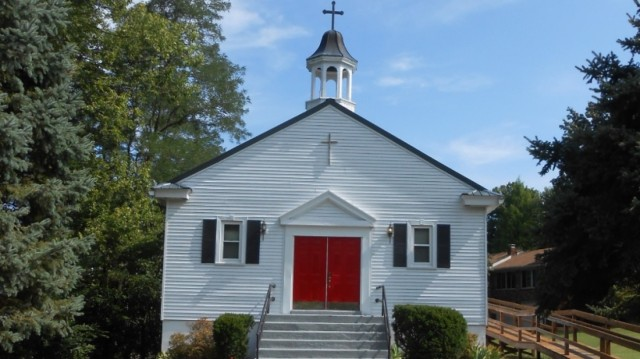 Holy Trinity, Brandenburg, Kentucky. We love small country churches as much as we do grand cathedrals. (parish photo)