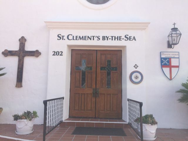 St. Clement's in San Clemente, California has a new sign which is tasteful, but very visible from the street. We shouldn't underestimate the importance of signage and other forms of advertising; there's nothing particularly sacred about low-tech, hand-lettered message boards from a century or two ago, especially to people driving past at high speeds. Tell the public who you are. (Katrina Soto)