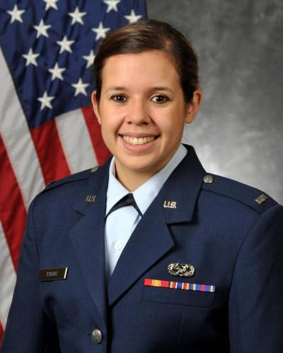 First Lt. Anais A. Tobar, 25, died last week from a non-combat injury in the United Arab Emirates. She was part of the U.S. operations against the Islamic State. A native of Caracas, Venezuela, she lived with her family in Miami off and on through the years, and graduated from Florida State University. She is survived by her parents, Angel and Ana Maria, and her brother Alejandro. Authorities are investigating her death. (USAF)