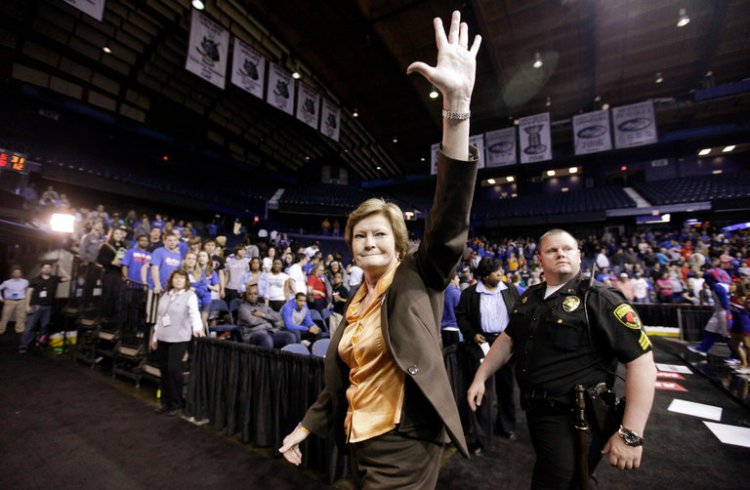 Pat Summitt, the winningest college basketball coach in U.S. history, died last week of early-onset Alzheimer's at age 64. She won 1,098 games and eight national championships for the University of Tennessee Lady Vols; when she was offered the men's job she turned it down, saying it wasn't any sort of promotion. She was a driven, hard-nosed competitor, but even more important, all of her players who completed four years of athletic eligibility graduated. She retired at age 59, having announced her illness a year before and demoted herself to assistant coach as the disease progressed. She became a public advocate for more treatment and research through her foundation, and co-wrote a bestselling book about Alzheimer's. Pat Summitt didn't consider losing an option. (Nam Y. Huh/Associated Press)