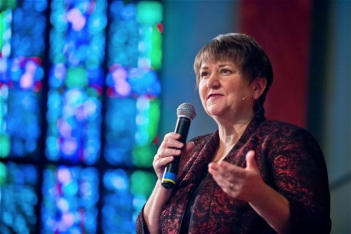 "The Rev. Karen Oliveto, senior pastor of San Francisco's famed Glide Memorial Church, has been elected the first openly Gay bishop in the United Methodist Church. She is to serve the Western District after the election Friday in Scottsdale, Arizona. The church's General Conference voted narrowly in May to approve ""a full review of all church law on sexuality,"" according to the Associated Press, with the study due two years from now. The election of Oliveto pushes the envelope; already cries of ""schism"" are being heard, but if it comes, it will have been years in the making. At the General Conference meeting in May, over 100 ordained pastors publicly came out as LGBT on the floor of the convention, and Methodist courts have made a steady stream of headlines as clergy Gay and Straight were hauled up on charges of violating the official Methodist view of marriage. Those interested in unity will find ways to make it happen, and those interested in proving that they're more righteous than other people will find a way to leave. American Christians are famous for picking up their marbles and going home, and no matter where you stand on the theological spectrum, there is always somebody stricter than you. Indeed the strange thing is that Christians compete in strictness, not mercy. (religiondispatches.com)"