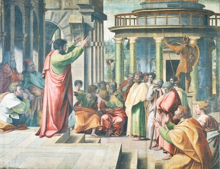 Raphael, 1515: St. Paul Preaching in Athens