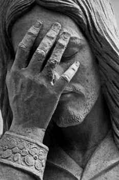 "A statue of ""Weeping Jesus"" is found near the memorial site in Oklahoma City where 168 perished in the 1995 terrorist bombing."