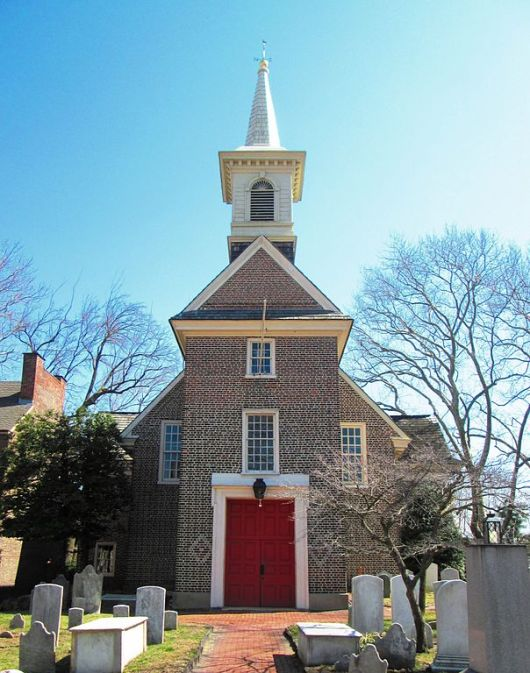 The oldest church in Pennsylvania is Gloria Dei, known as the Old Swedes' Church, in Philadelphia. It opened in 1700 – the congregation dates to 1677 – and was Swedish Lutheran until 1845, when it became Episcopalian. (Wikipedia)