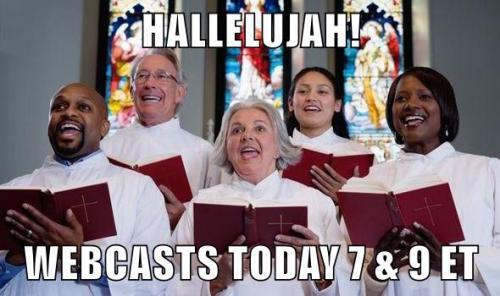 HallelujahWebcastsToday