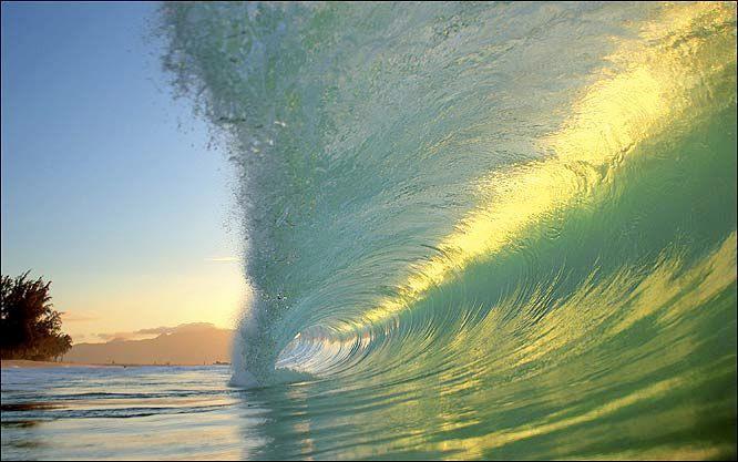 For joy in God's creation: ocean wave off Hawai'i. (Clark Little Photography)