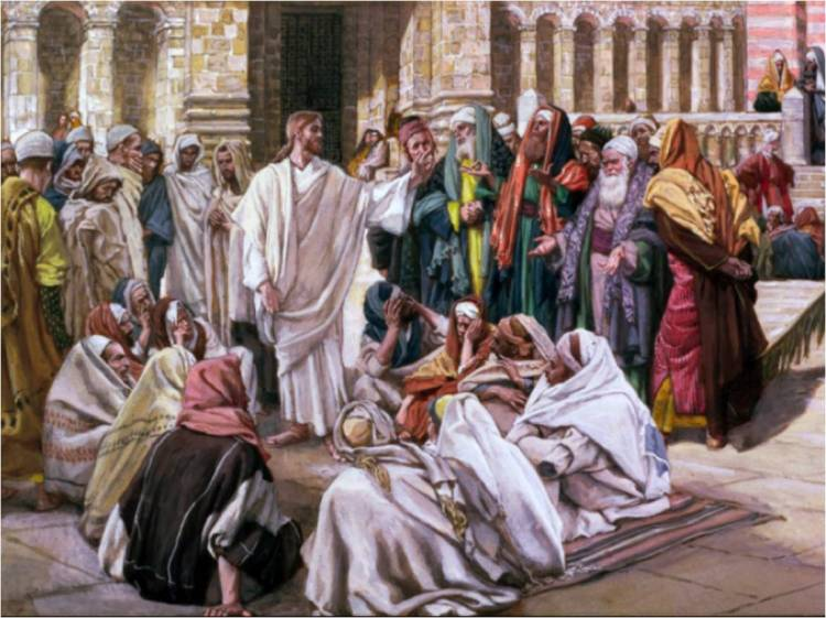 Jesus teaching in the temple. (dianegw.blogspot.com)