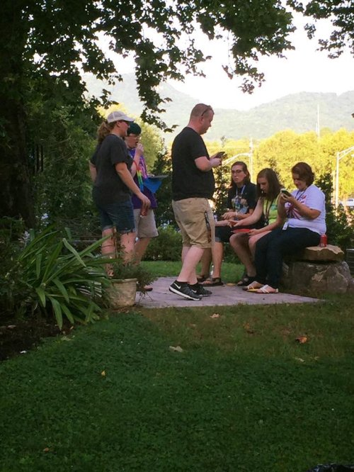 The Pokémon Go craze continues in some American churches; in Middlesboro, Kentucky, the Kyrie Eleison chapter of the Daughters of the King offered pizza and prayer last week and got to meet some college students. Hopping on the latest electronic bandwagon is no substitute for ongoing evangelism – but as a one-shot deal, evangelism is exactly what this is, the chance to do a good deed and speak a good word with a generation that's both spiritual and skeptical. (Kyrie Eleison DOK)
