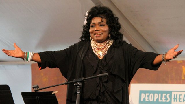 Ruby James, a Gospel-soul-jazz singer known as the Queen of Beale Street, has died, sending Memphis, Tennessee into a funk; Beale Street is the heart of the city's blues and cultural scene. She appeared with B.B. King and Ray Charles, recorded 10 albums, appeared in numerous films, and sang in church choirs. (Rollin Riggs)