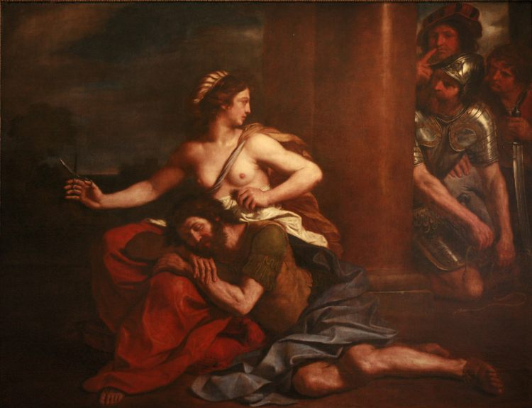 Guercino: Samson and Delilah. (Musée des Beaux-Arts, Strasbourg)