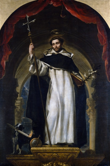 Claudio Coello, c. 1685: St. Dominic. Dominic founded the Order of Preachers, commonly known as the Dominicans, or in England, Blackfriars. He traveled extensively, preaching and founding friaries, opposing the Albigensian heresy with intellectual rigor and the spiritual discipline of absolute poverty. Aquinas was a Dominican; they had houses at every major university.