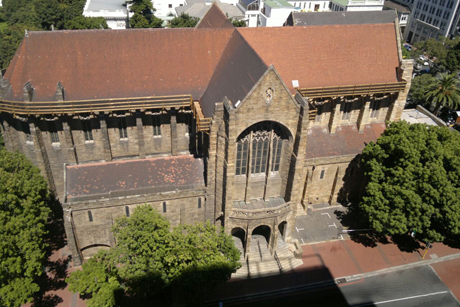 We are sorry to learn that St. George's Cathedral in Cape Town has suffered a partial collapse of its roof; no one was injured, but it's going to take a million dollars to fix it. Cathedral leaders knew the roof was bad and had already started fundraising, but after torrential rains they found out it was worse than they feared. This was Desmond Tutu's cathedral, the seat of the Anglican Primate of Southern Africa, and now it faces costly repairs. (Cathedral photo)