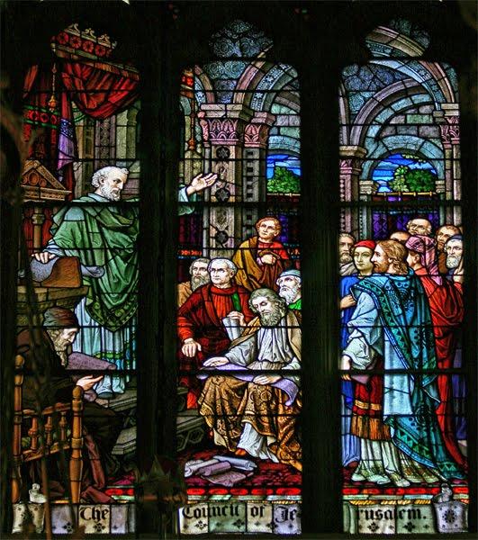 Window depicting the Council of Jerusalem (freerepublic.com)