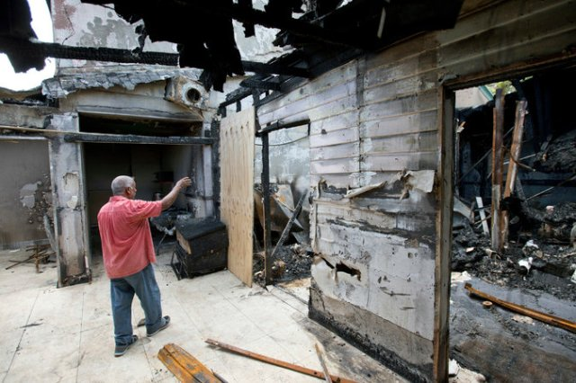 A new report says hate crimes against U.S. Muslims are higher than they've been since 9/11, and here's one bit of evidence: the Islamic Center of Fort Pierce, Florida was hit by an arsonist on the 15th anniversary of 9/11, which was also the eve of Eid al-Adha, the holiest day of the Muslim year, commemorating the Sacrifice of Isaac. Christians must denounce anti-Muslim violence and work to prevent it as much as we expect Muslims to denounce terrorist attacks in the name of their religion. (Wilfred O. Lee/Associated Press)