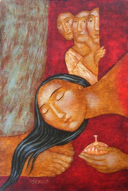 Julia Stankova (b. 1954): Mary Anoints Jesus' Feet
