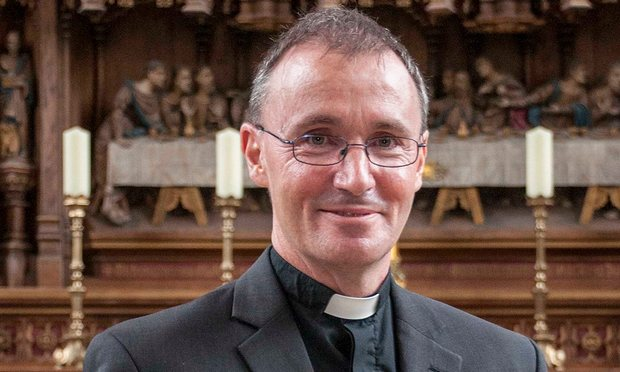 """Nicholas Chamberlain, the Bishop of Grantham, has become the first bishop of the Church of England to come out as Gay. He was appointed last November by Archbishop Justin Welby, who knew of Chamberlain's personal life; he's in a longterm relationship he says is celibate. Welby said, """"He lives within the bishops' guidelines and his sexuality is completely irrelevant to his office."""" Ten months after the fact, GAFCON has denounced his appointment. (Daniel Herrick/Diocese of Lincoln)"""