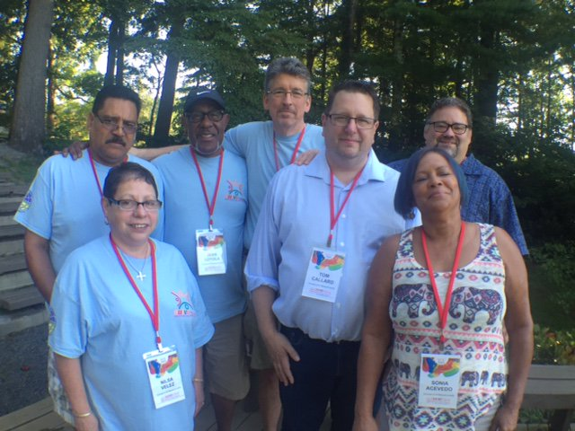 "Nuevo Amanecer (""New Dawn""), the big annual conference on Hispanic/Latino ministry in The Episcopal Church, concluded Thursday at Kanuga in North Carolina; above, the delegation from the Diocese of Western Massachusetts. (diocesan photo)"