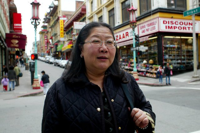 """We are sorry to learn of the death of Rose Pak, Chinese-born organizer of San Francisco's large Asian-American community. She started as the first Asian woman on the city desk of the leading newspaper, then quit to lead a successful campaign to save Chinese Hospital, which served mostly poor immigrants. She went on to back other projects that would benefit the Asian community, while vehemently opposing others. When she began, Asians held little influence at City Hall; she developed the community into a powerful force, with politicians catering to her. She was outspoken, larger than life, caustic, even feared – and the public washed it down with her plainspoken humor, which they enjoyed. She might threaten an opponent with Armageddon, then join a drag queen kick line; you never knew what was coming next. Former Mayor and California Assembly Speaker Willie Brown, loved to visit the friend and sometime ally he always called """"Miss Rose."""" (Monica Almedia/The New York Times)"""