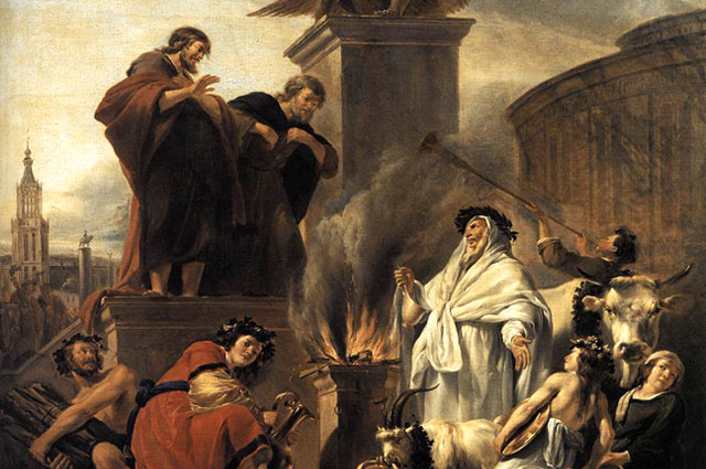 Nicolaes Berchem: Paul and Barnabas at Lystra