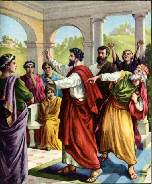 Paul and Barnabas in Antioch; Paul's oration and its aftermath will occupy us for several days. (jeffangiegoh.com)