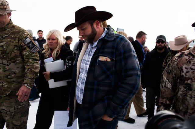 Jurors in the trial of Ammon Bundy, his brother Ryan and five followers for their armed, six-week takeover of the Malheur National Wildlife Refuge in Oregon last January told a Federal judge yesterday they have reached a preliminary decision on three of the defendants but are still discussing the others; she told them to keep working. The government says the episode resulted from a conspiracy to prevent Federal officers from doing their jobs, while the defendants say it was a spontaneous uprising that reflected their religious beliefs, as if Jesus told them to shoot up a bird sanctuary. The surrounding community of Harney County remains deeply divided, and with elections scheduled two weeks from now, tensions remain high. (Jarod Opperman/The New York Times)
